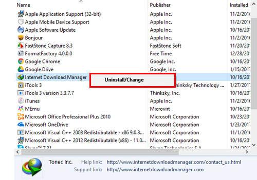 Gỡ IDM trên Win 10, xóa bỏ Internet Download Manager trong Windows 10 hoàn toàn 3