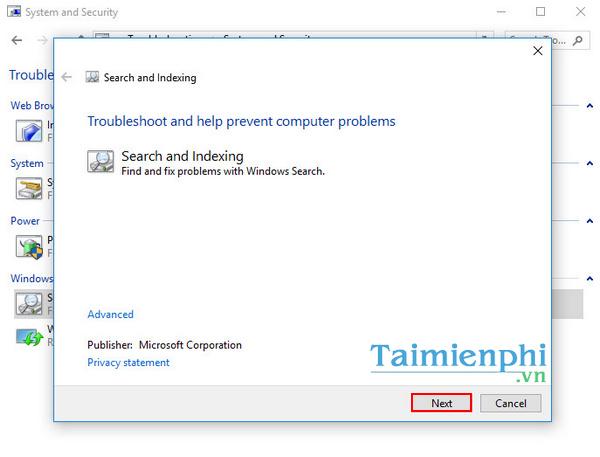 search windows 10