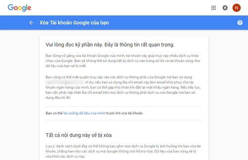 cach xoa tai khoan google gmail youtube vinh vien