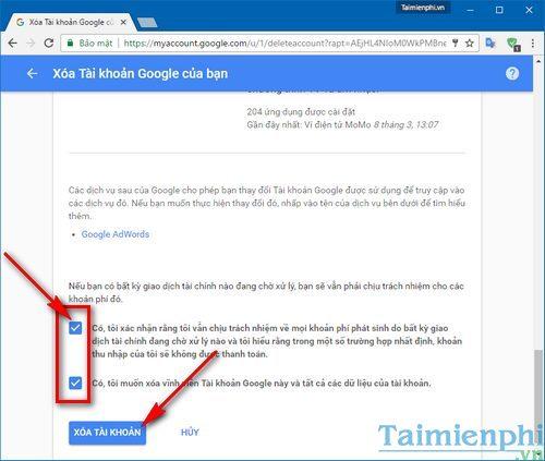 Cách xóa tài khoản Gmail Google, kênh YouTube vĩnh viễn nhanh nhất