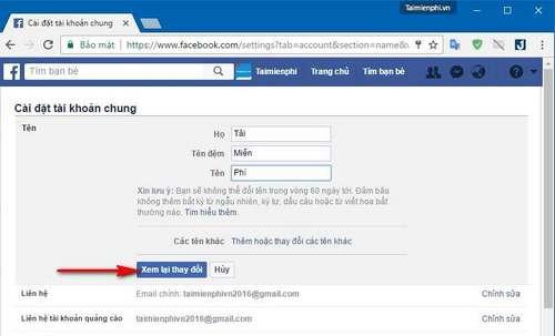 how to rename facebook 1 chu
