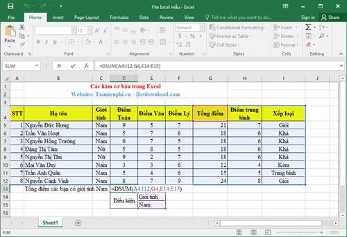[taimienphi.vn] các hàm nâng cao trong excel, hàm vlookup, dcounta, dget, choose ... c