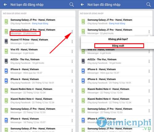 Đăng xuất Messenger, thoát Facebook Messenger trên iPhone, Android, Windows Phone 10