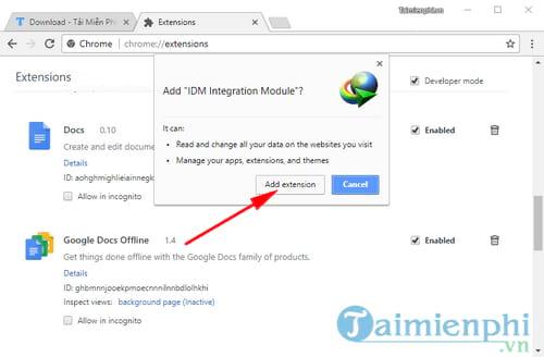 Cách sửa lỗi IDM không tự động bắt link tải nhạc, video Youtube, Facebook trên trình duyệt 5