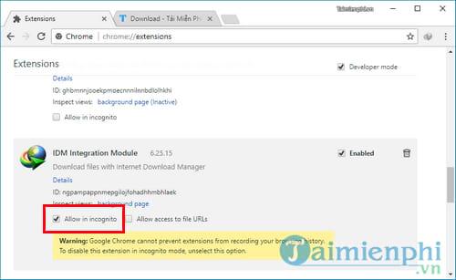 Cách sửa lỗi IDM không tự động bắt link tải nhạc, video Youtube, Facebook trên trình duyệt 6