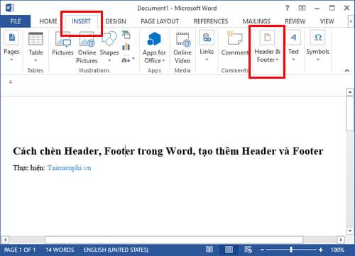 Cách chèn Header, Footer trong Word, tạo thêm Header và Footer 16