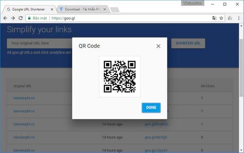 Rút gọn link và tạo mã QR Code với goo.gl 13