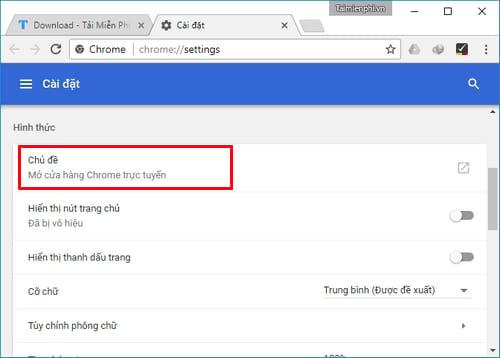Đổi hình nền Google Chrome, thay theme trình duyệt web Google Chrome