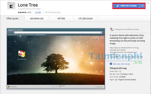 Đổi hình nền Google Chrome, thay theme trình duyệt web