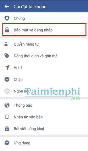 Đổi mật khẩu facebook trên điện thoại iPhone, SamSung, OPPO, Android 2