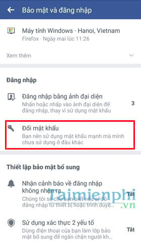 Đổi mật khẩu facebook trên điện thoại iPhone, SamSung, OPPO, Android 3