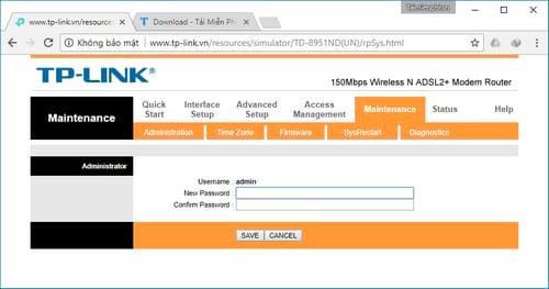 doi mat khau admin router wifi tplink