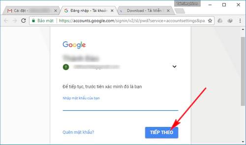 cach doi mat khau gmail