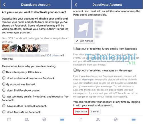 Xóa tài khoản Facebook tạm thời và vĩnh viễn 30