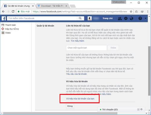 Xóa tài khoản Facebook tạm thời và vĩnh viễn 18