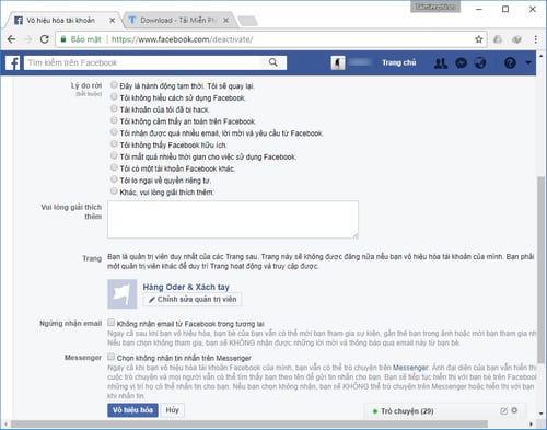 Xóa tài khoản Facebook tạm thời và vĩnh viễn 19