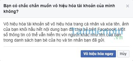 Xóa tài khoản Facebook tạm thời và vĩnh viễn 20
