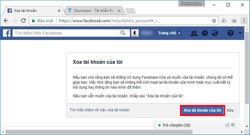 Xóa tài khoản Facebook tạm thời và vĩnh viễn 21