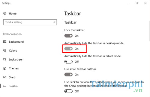 an thanh taskbar windows