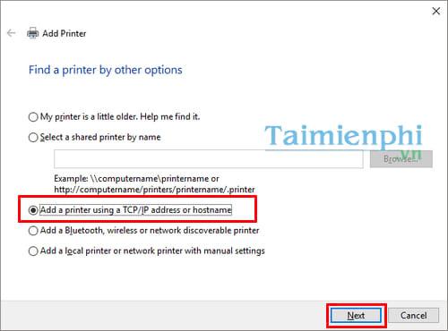 Hướng dẫn chia sẻ máy in trong mạng LAN windows 10, 7, XP 18
