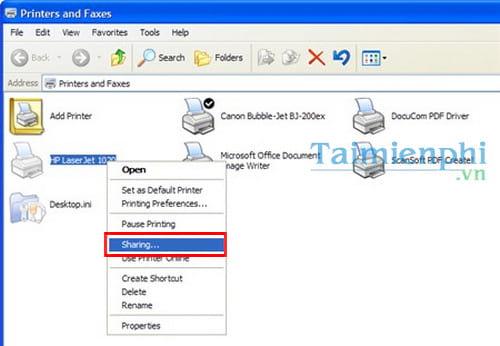 Hướng dẫn chia sẻ máy in trong mạng LAN windows 10, 7, XP 10