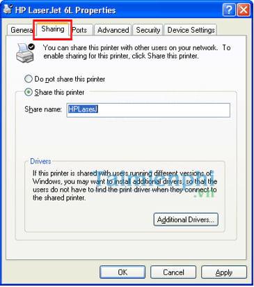 Hướng dẫn chia sẻ máy in trong mạng LAN windows 10, 7, XP 11