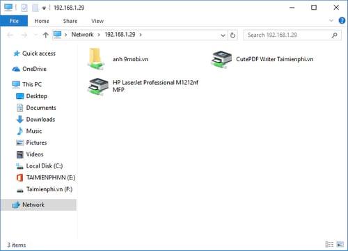 Hướng dẫn chia sẻ máy in trong mạng LAN windows 10, 7, XP 13