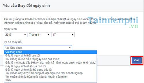Cách đổi ngày sinh Facebook, sửa tháng, năm sinh trên Facebook 8