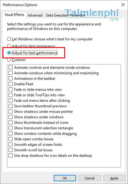 Cách tăng tốc Windows 10 đạt hiệu suất tối đa khi hoạt động 9