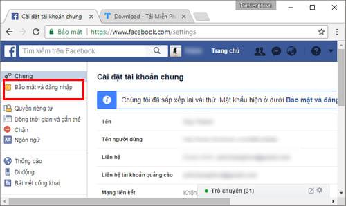 Đổi mật khẩu Facebook, thay password Facebook 3