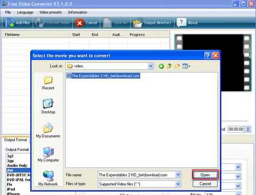 Cách chuyển đổi Video bằng Free Video Converter 3