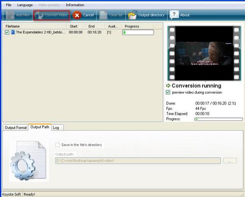 Cách chuyển đổi Video bằng Free Video Converter 9