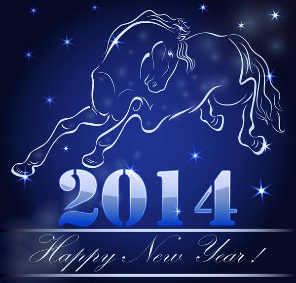 Hình nền năm mới 2014 chủ đề con ngựa, xuân Giáp Ngọ