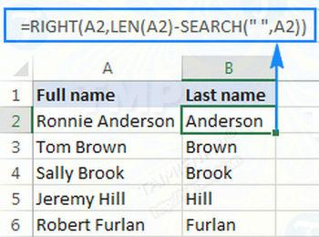 Hàm RIGHT trong Excel, cú pháp và ví dụ minh họa 3