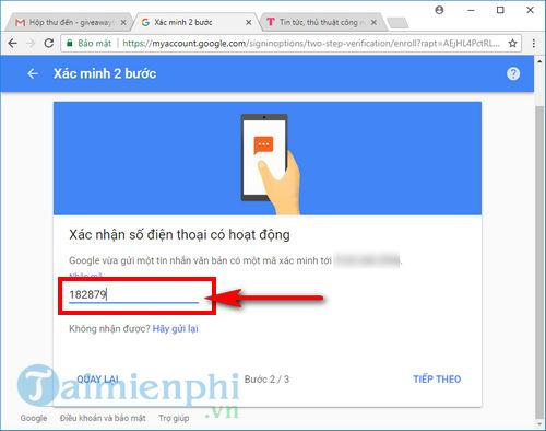 bao mat 2 buoc gmail