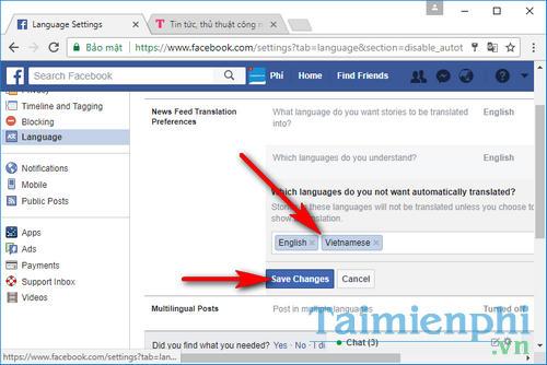 Cách chặn Facebook tự động dịch các bài viết trên news feed