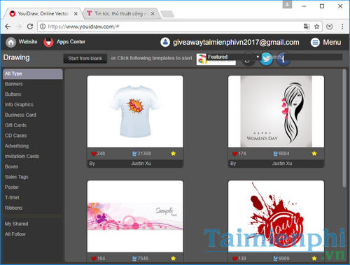 giveaway activity youidraw premium designed by flowers on browser 2