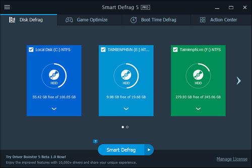 (Giveaway) Đăng ký bản quyền Smart Defrag Pro 5, chống phân mảnh ổ cứn