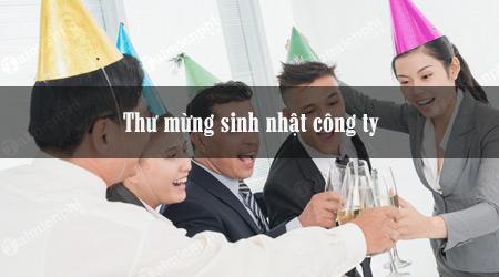 Thư chúc mừng sinh nhật công ty