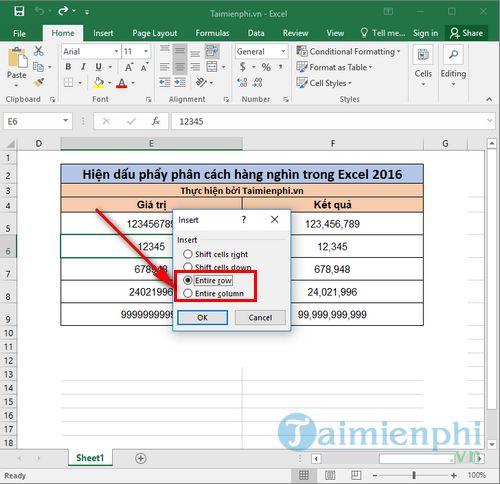 [taimienphi.vn] cách chèn thêm hàng trong excel 2016, 2013, 2007, 2010, 2003