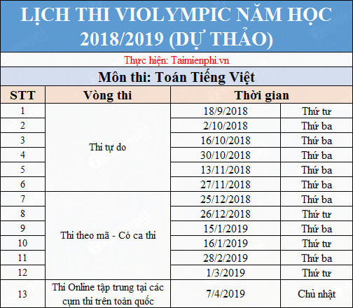 lich thi violympic toan tieng viet 2018 2019