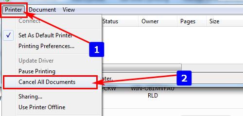 Cách hủy lệnh in trong Word, Excel trên máy tính 7