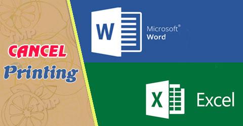 Cách hủy lệnh in trong Word, Excel trên máy tính 0