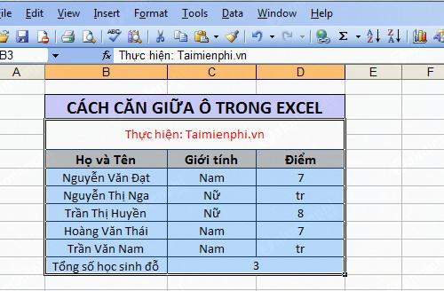 Căn giữa ô trong Word, Excel 19