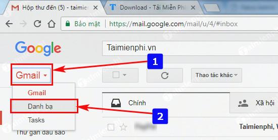cach xem danh b a di e n tho a i d a d o ng b o tren gmail
