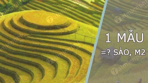 1 Mẫu bằng bao nhiêu sào, bao nhiêu Mét vuông? Bắc, Trung, Nam