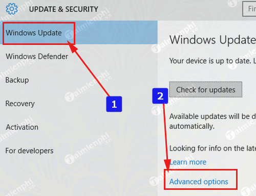 tat update windows 10 tu dong