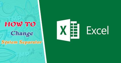 Cách chuyển dấu phẩy thành dấu chấm trong Excel