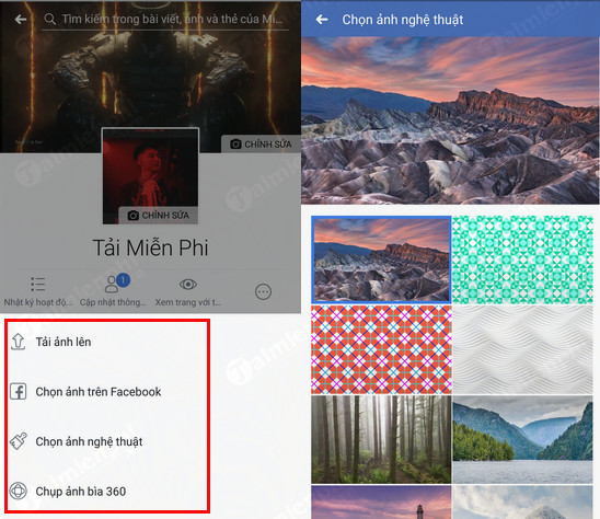 How to change your Facebook photo on your mobile phone