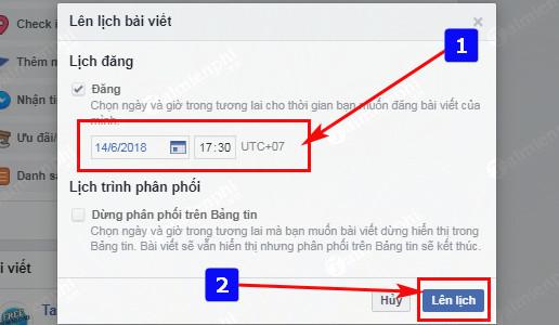 Lên lịch cập nhật Status, đăng bài trên Fanpage Facebook